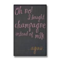 'Oh No! I Bought Champagne!'  Wall Plaque